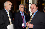 Trevor Kavanagh, George Jones and Michael Ancram. Political Studies Association Awards 2004. Institute of Directors, Pall Mall. London SW1. 30 November 2004.  ONE TIME USE ONLY - DO NOT ARCHIVE  © Copyright Photograph by Dafydd Jones 66 Stockwell Park Rd. London SW9 0DA Tel 020 7733 0108 www.dafjones.com