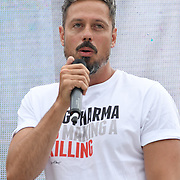 24 July 2021, Trafalgar London. Speaker Gareth Icke in London to oppose covid vaccines and government restrictions, London, UK.