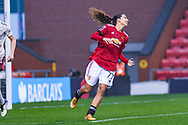 Manchester United Women forward Tobin Heath (77)  gestures and reacts during the FA Women's Super League match between Manchester United Women and Arsenal Women FC at Leigh Sports Village, Leigh, United Kingdom on 8 November 2020.