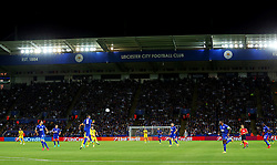 A general view of play during the first ever UEFA Champions League match at the King Power Stadium - Mandatory by-line: Matt McNulty/JMP - 27/09/2016 - FOOTBALL - King Power Stadium - Leicester, England - Leicester City v FC Porto - UEFA Champions League