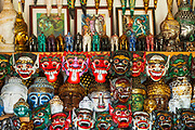 Balinese masks at Tanah Lot, Bali, Indonesia