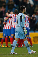 17.01.2013 SPAIN - Copa del Rey Matchday 1/2th  match played between Atletico de Madrid vs Real Betis Balompie (2-0) at Vicente Calderon stadium. The picture show Inaki Goita