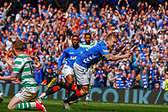 **GOAL** Scott Arfield of Rangers FC celebrates his teams 2nd goal of the game during the Ladbrokes Scottish Premiership match between Rangers and Celtic at Ibrox, Glasgow, Scotland on 12 May 2019.