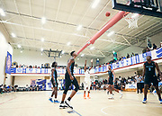 NORTH AUGUSTA, SC. July 10, 2019. Michael Foxter 2021 #5 of Mac Irvin Fire 17U shoots a free-throw at Nike Peach Jam in North Augusta, SC. <br /> NOTE TO USER: Mandatory Copyright Notice: Photo by Royce Paris / Jon Lopez Creative / Nike