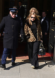 Kate Moss is seen leaving the Ritz to go back to London. 28 Feb 2018 Pictured: Kate Moss. Photo credit: MEGA TheMegaAgency.com +1 888 505 6342