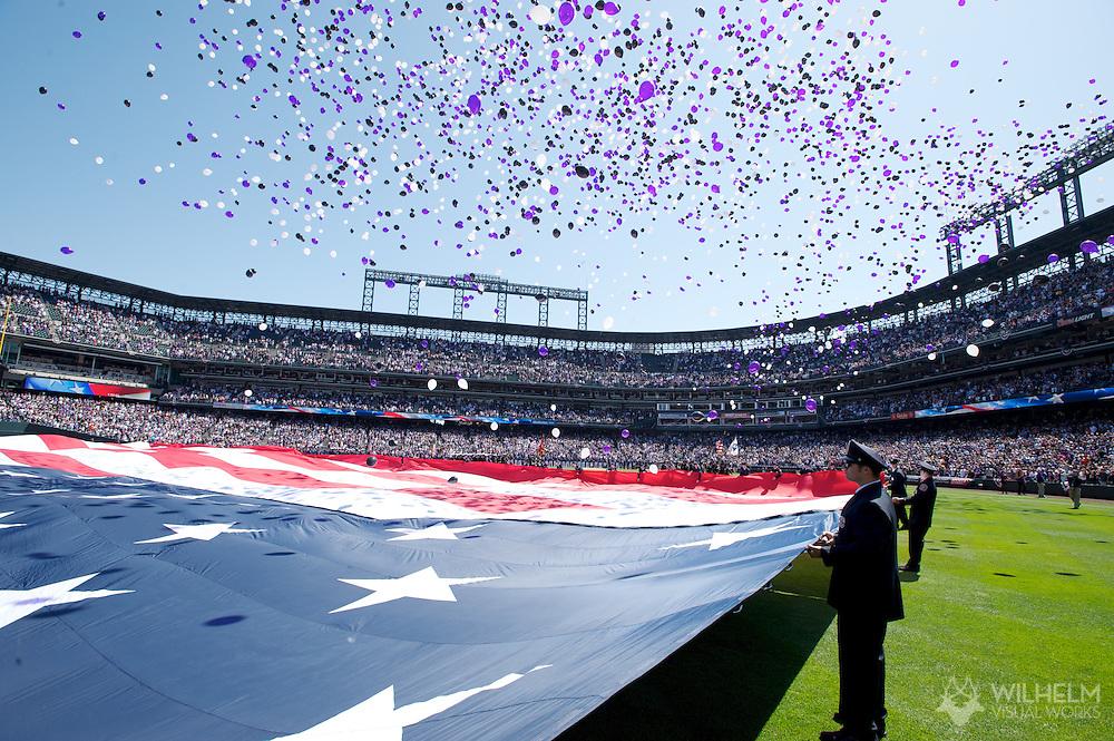 09 April 2012: Colorado Rockies vs. the San Francisco Giants at Coors Field in Denver, CO.  ©2012 Brett Wilhelm