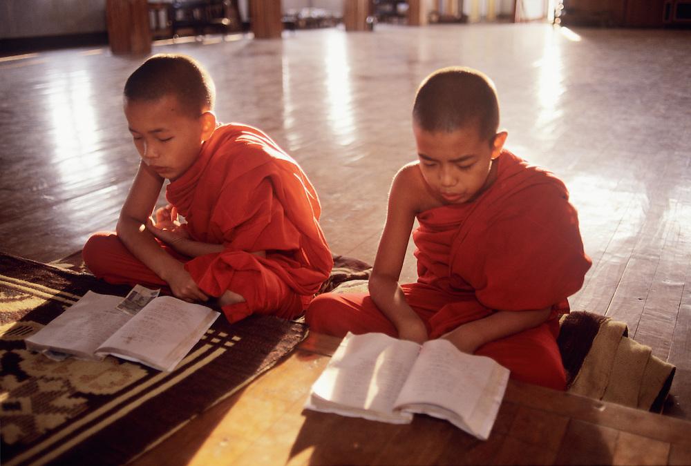 Young Buddhist Monks, Phaung Daw U Pagoda, Shan State, Inle Lake