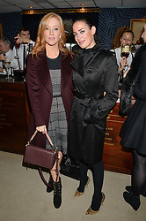NEWBURY, ENGLAND 26TH NOVEMBER 2016: Left to right, Sarah-Jane Mee and Kirsty Gallacher at Hennessy Gold Cup meeting Newbury racecourse Newbury England. 26th November 2016. Photo by Dominic O'Neill