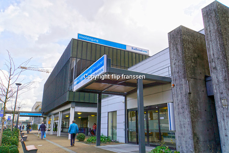 Nederland, Nijmegen, 4-3-2020 Toegang, ingang, hoofdingang van het Radboudumc. Foto: Flip Franssen