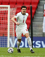 TIRANA, ALBANIA - MARCH 28:Harry Maguire of England during the FIFA World Cup 2022 Qatar qualifying match between Albania and England at the Qemal Stafa Stadium on March 28, 2021 in Tirana, Albania. Sporting stadiums around Europe remain under strict restrictions due to the Coronavirus Pandemic as Government social distancing laws prohibit fans inside venues resulting in games being played behind closed doors (Photo by MB Media)