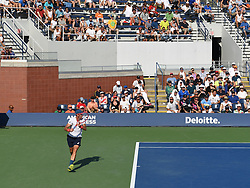 August 29, 2018 - Flushing Meadow, NY, U.S. - FLUSHING MEADOW, NY - AUGUST 29:  Fans fill the stands to watch Steve Johnson (USA) takes on Dominic Thiem (AUT) in the second round of the Men's Singles Championships at the US Open on August 29, 2018, played at the Billie Jean King Tennis Center, Flushing Meadow, NY.  (Photo by Cynthia Lum/Icon Sportswire) (Credit Image: © Cynthia Lum/Icon SMI via ZUMA Press)