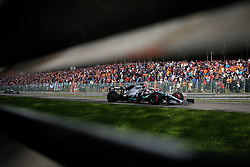 SPA-FRANCORCHAMPS, Sept. 2, 2019  Lewis Hamilton of Mercedes (R) drives during the Formula 1 Belgian Grand Prix at Spa-Francorchamps Circuit, Belgium, Sept. 1, 2019. (Credit Image: © Zheng Huansong/Xinhua via ZUMA Wire)