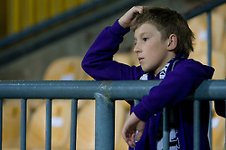 Young fan of Maribor at Third Round of Champions League qualifications football match between NK Maribor and FC Zurich,  on August 05, 2009, in Ljudski vrt , Maribor, Slovenia. Zurich won 3:0 and qualified to next Round. (Photo by Vid Ponikvar / Sportida)