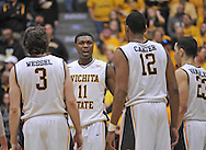 WICHITA, KS - JANUARY 18:  Forward Cleanthony Early #11 of the Wichita State Shockers reacts after a play against the Indiana State Sycamores during the first half on January 18, 2014 at Charles Koch Arena in Wichita, Kansas.  (Photo by Peter G. Aiken/Getty Images) *** Local Caption *** Cleanthony Early