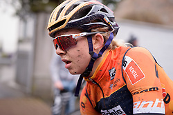 A tough first race with Boels Dolmans for Jip van den Bos at the 112.8 km Le Samyn des Dames on March 1st 2017, from Quaregnon to Dour, Belgium. (Photo by Sean Robinson/Velofocus)