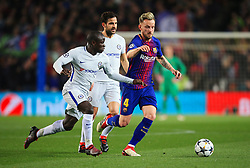Ngolo Kante of Chelsea challenges Ivan Rakitic of Barcelona - Mandatory by-line: Matt McNulty/JMP - 14/03/2018 - FOOTBALL - Camp Nou - Barcelona, Catalonia - Barcelona v Chelsea - UEFA Champions League - Round of 16 Second Leg