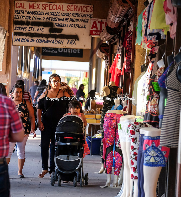 People are seen in Calexico (the US and Mexico border), California on Wednesday April 19, 2017. (Xinhua/Zhao Hanrong)(Photo by Ringo Chiu/PHOTOFORMULA.com)<br /> <br /> Usage Notes: This content is intended for editorial use only. For other uses, additional clearances may be required.