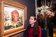 A mill by  L.S. Lowry - eChristie's Modern British and Irish Art Sale which will take place on 19 November 2014. Featuring 35 lots, the auction includes  examples of 20th century British sculpture and painting, such as: John Duncan Fergusson's Poise (estimate: £80,000-120,000); six paintings by L.S. Lowry, led by Coal Barge (estimate: £700,000-1,000,000);  Euan Uglow's masterpiece entitled Three In One (estimate: £500,000-800,000; Figure (Sunion) by Dame Barbara Hepworth (estimate: £600,000-800,000); and sculpture by leading artists of the genre including Henry Moore, Lynn Chadwick, Dame Elisabeth Frink, and Naum Gabo.