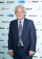 Pink News Awards 2019 <br /> At Church House, London, Great Britain <br /> 16th October 2019 <br /> <br /> John Bercow <br /> Speaker of the House of Commons <br /> <br /> Photograph by Elliott Franks