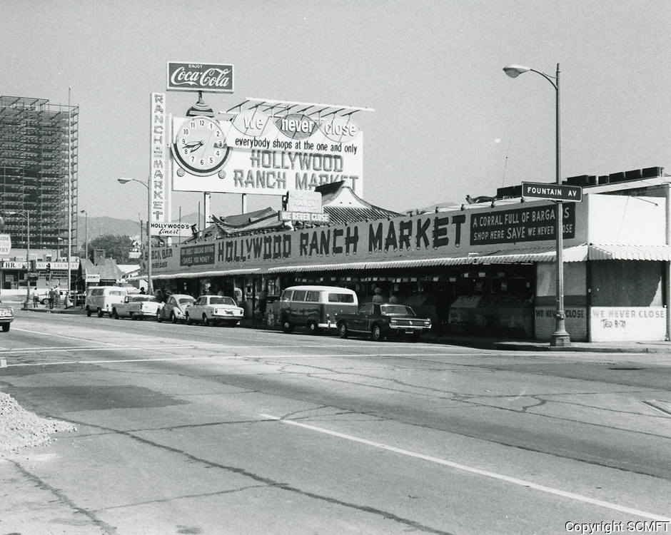 1971 Hollywood Ranch Market on Vine St.