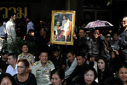 December 2, 2016 - Bangkok, Thailand - Thailand's new King Maha Vajiralongkorn Bodindradebayavarangkun is seen on his way out from the Grand Palace in Bangkok, December 2, 2016 during Thailand's new King Maha Vajiralongkorn Bodindradebayavarangkun, took part in a merit-making ceremony at Bangkok's Grand Palace to mark 50 days. (Credit Image: © Vichan Poti/Pacific Press via ZUMA Wire)