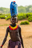 Dassanach tribe girl, Omo Valley, Ethiopia.