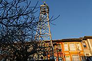 The bell tower of the Samatya kilisesi (church) in the Fatih neighbourhood of Istanbul, Turkey.