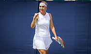 Elena Vesnina of Russia playing doubles at the 2021 Viking International WTA 500 tennis tournament on June 23, 2021 at Devonshire Park Tennis in Eastbourne, England - Photo Rob Prange / Spain ProSportsImages / DPPI / ProSportsImages / DPPI