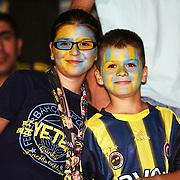 Fenerbahce's supporters before during their Turkish superleague soccer match S.B. Elazigspor between Fenerbahce at the Ataturk stadium in izmir Turkey on Saturday 18 August 2012. Photo by TURKPIX
