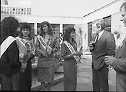 Roses of Tralee at Guinness Brewery..1986.20.08.1986..08.20.1986..20th August 1986..As part of the 50th running of the Rose Of Tralee Festival the thirty Rose contestants were invited to The Guinness Brewery,St James's Gate,Dublin. At the reception in their honour, Mr Pat Healy,Sales Director,Guinness Group Sales,welcomed the roses at the Guinness Reception Centre..Extra: Ms Noreen Cassidy,representing Leeds,went on to win the title of 'Rose Of Tralee'...Image shows Australia was well represented at this years' contest with Roses from,Sydney,Darwin,Adelaide and Melbourne taking part.