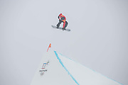 Jamie Nicholls, Team GB freestyle snowboarder, during the mens Snowboard Slopestyle Qualifications at the Pyeongchang Winter Olympics on the 10th February 2018 in Phoenix Snow Park in South Korea