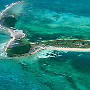 Aerial view of Dry Tortugas National Park, FL.