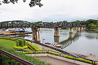 Bridge over the river Kwai, Death Railway, Kanchanaburi, Thailand