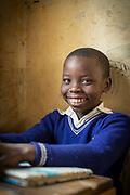 Close-up of African school girl in Musoto Christian School, Uganda