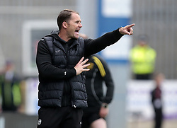 Patrick Thistle manager Alan Archibald looks on against Livingston during Ladbrokes Premiership play-off final, second leg match at the Energy Check Stadium at Firhill, Glasgow.