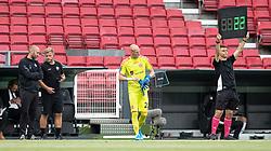 AaB indskifter reservemålmand Andreas Hansen (AaB) under kampen i 3F Superligaen mellem FC København og AaB den 17. juni 2020 i Telia Parken, København (Foto: Claus Birch).