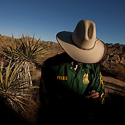 This undercover special agent with the National Park Service is tasked with protecting the vast resources at Joshua Tree National Park. Photographed for Preservation Magazine.