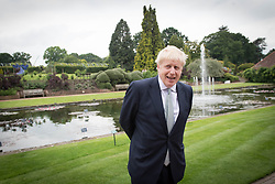 Conservative party leadership candidate Boris Johnson during a tour of the RHS (Royal Horticultural Society) garden at Wisley, in Surrey.