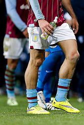 The trademark low socks of Jack Grealish of Aston Villa (making his first Premier League start) - Photo mandatory by-line: Rogan Thomson/JMP - 07966 386802 - 07/04/2015 - SPORT - FOOTBALL - Birmingham, England - Villa Park - Aston Villa v Queens Park Rangers - Barclays Premier League.
