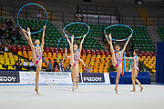 "Azerbaijan rhythmic gymnastics junior group during the ""7th tournament city of Desio"", 09 March 2019."