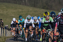 Elena Cecchini makes her way up the VAMberg for the final time this weekend  - Drentse 8, a 140km road race starting and finishing in Dwingeloo, on March 13, 2016 in Drenthe, Netherlands.