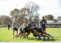 16 June 2013; Brumbies forwards coach Laurie Fisher, left, watches over some scrum training ahead of their game against British & Irish Lions on Tuesday. British & Irish Lions Tour 2013, Brumbies Training, Brumbies Rugby Training Centre, Griffith, Canberra, Australia. Picture credit: Stephen McCarthy / SPORTSFILE