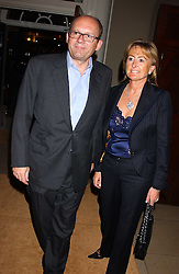 City millionaire MICHAEL SPENCER and his wife LORRAINE, he recently paid Robbie Williams £1 million to play at his 50th birthday party at the Bruce Oldfield Crimestoppers Party held at Spencer House, 27 St.James's Place, London SW1 on 22nd September 2005.<br /><br />NON EXCLUSIVE - WORLD RIGHTS