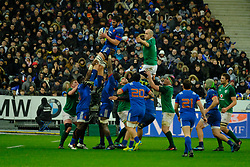 February 3, 2018 - Saint Denis, Seine Saint Denis, France - The Lock of French Team PAUL GABRILLAGUES in action during the NatWest Six Nations Rugby tournament between France and Ireland at the Stade de France - St Denis - France..Ireland Won 15-13 (Credit Image: © Pierre Stevenin via ZUMA Wire)