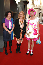 Left to right, FRANCESCA SIMON, MIRANDA RICHARDSON and GRAYSON PERRY  at the Royal Academy of Art Summer Exhibition Preview Party on 4th June 2008.<br /><br />NON EXCLUSIVE - WORLD RIGHTS