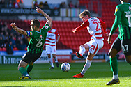 Kieran Sadlier of Doncaster Rovers (22) takes a shot during the EFL Sky Bet League 1 match between Doncaster Rovers and Coventry City at the Keepmoat Stadium, Doncaster, England on 4 May 2019.