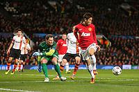 Manchester United's Shinji Kagawa with a deft flick