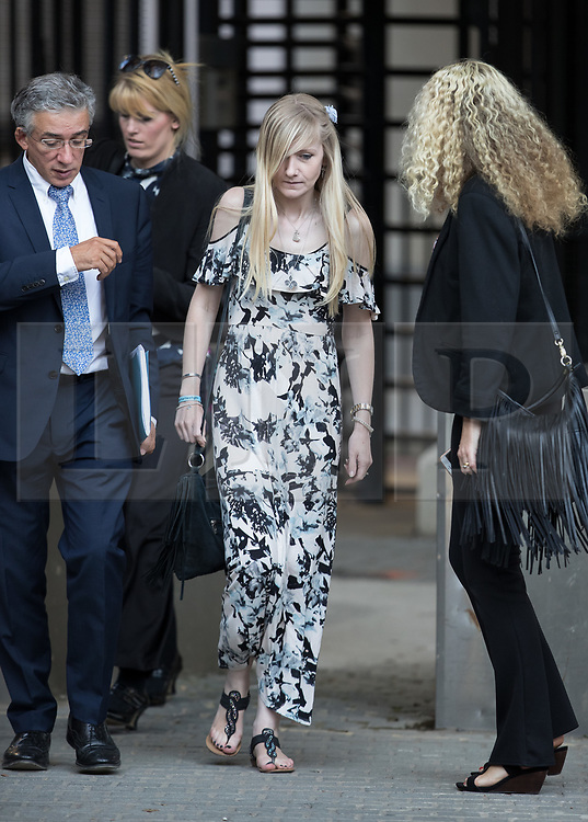 © Licensed to London News Pictures. 25/07/2017. London, UK. CONNIE YATES (C) leaves The The Royal Courts of Justice in London . The parents of terminally ill Charlie Gard have returned to court in an attempt to take their terminally ill son home to die rather than ending his life in hospital. Yesterday a court ruled that Charlie, who suffers from a rare genetic condition known as mitochondrial DNA depletion syndrome, should not be taken to US for further treatment. Photo credit: Peter Macdiarmid/LNP