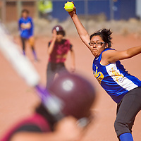 032113       Cable Hoover<br /> <br /> Zuni Thunderbird Tyra Quetawki (12) pitches against the Tohatchi Cougars Thursday at Zuni High School.