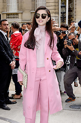 Fan Bing Bing arriving at the Valentino show as a part of Paris Fashion Week Ready to Wear Spring/Summer 2017 on October 2, 2016 in Paris, France. Photo by Julien Reynaud/APS-Medias/ABACAPRESS.COM